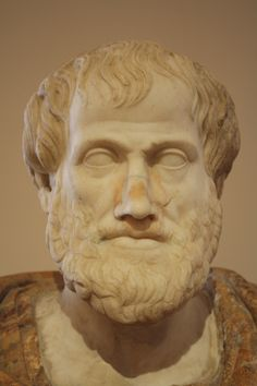 A Hellenistic bust of Greek philosopher Aristotle by Lisippo from a bronze original. (Palazzo Altemps, Rome).