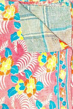 Handmade Vintage One-of-a-Kind Kanthina Sari Quilt - Fab! :)