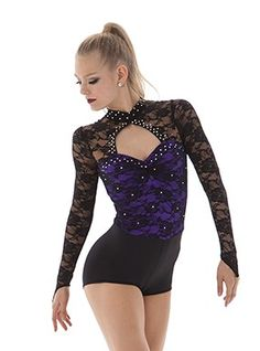 Lace sleeve dance costume. Change to any color you want!