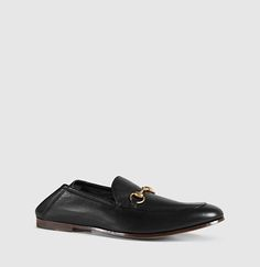 leather horsebit loafer