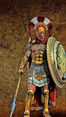 - Guerrero Lacedemoniota . Lacedemón ( Nombre correcto del estado espartano ) Grecia . Siglo lV a.C.