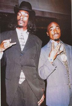 "A great poster of Hip Hop legends Snoop Dogg and Tupac Shakur - ""Snoo-Pac"", if you will - looking sharp back in the day! Ships fast. 24x36 inches. Check out the"