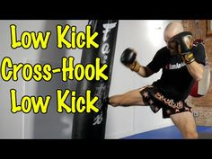 Muay Thai Kick Combo - Front Teep, Switch Roundhouse Kick - YouTube