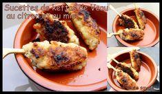 Keftas de veau au citron et au miel en forme de sucettes apéritives