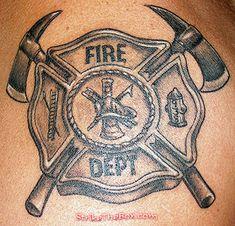 I love my firefighter Ems Tattoos, Baby Tattoos, Future Tattoos, Tattoos For Guys, Tatoos, Sleeve Tattoos, Fireman Tattoo, Firefighter Tattoos, Firefighter Logo