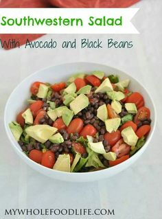 Southwestern salad w/ avacado and black beans