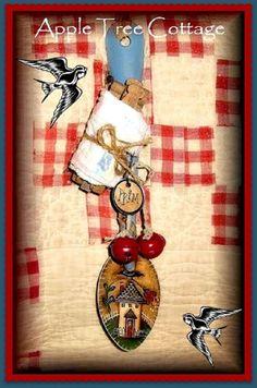 Honeysuckle Cottage Spoon Hanger Pattern - Martha Smalley - PDF DOWNLOAD