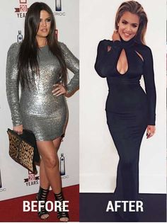 Khloe Kardshian Before and After Weight Loss Pictures #weightlossbeforeandafter