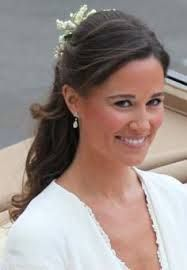 Image result for pippa middleton half up hair styles