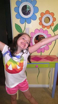 Little girl mural