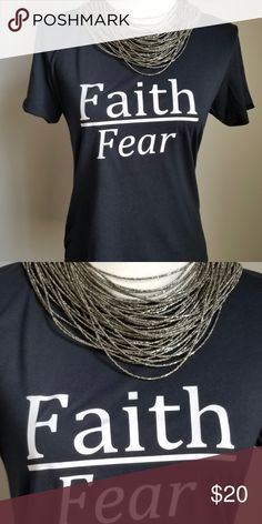 25776d0b5e Common Thread Clothing Company Cute Faith Over Fear T-shirt in Black Common  Thread Clothing Company Tops Tees - Short Sleeve
