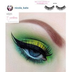 #picoftheday is Lemon Lime #eyemakeup with one of our best seller human-hair handcrafted #eyelashes style #NTR04 by Beauty Blogger/Instagramer, @nicola_kate. ❤ing it.