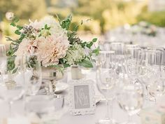 Simple yet elegant wedding centerpiece by Violetta Flowers, San Francisco.