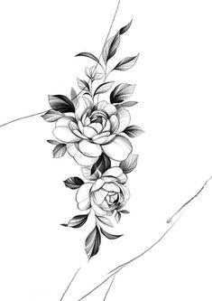 Mini Tattoos, Body Art Tattoos, Small Tattoos, Sleeve Tattoos, Floral Tattoo Design, Flower Tattoo Designs, Tattoo Set, Cover Tattoo, Tattoo Costillas