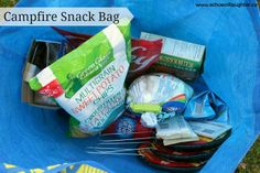 "Echoes of Laughter: Organizing A Camping Kitchen. I like the separate ""Campfire snack bag"" Camping In North Carolina, Florida Camping, Camping Glamping, Camping Meals, Camping Trailers, Camping Recipes, Luxury Camping, Camping Tips, Travel Trailers"