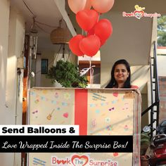 The surprise box is left outside your loved one's doorstep! The door bell is rung & the rest is mind-blowing! Balloon Surprise, Surprise Box, Surprise Gifts, Send Balloons, Birthday Gifts For Her, Balloon Decorations, Mind Blown, Big Day, Celebrations