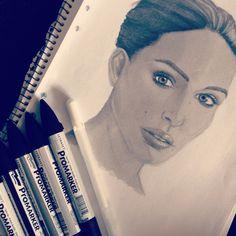 1st portrait / Promarkers/ hannasimu Portrait Inspiration, Fashion Illustrations, Graphic Design Art, Fashion Drawings