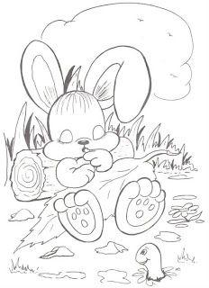 Riscos para pintar coelhinhos                                                                                                                                                                                 Mais