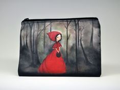The little red riding hood carry all pouch,Toiletry Bag,make up bag, Wash Bag,Zipper Pouch kids Little Red Riding, Red Riding Hood, Oeko Tex 100, The Little Prince, Wash Bags, Toiletry Bag, Zipper Pouch, Bag Making, Cotton Canvas