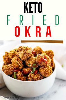 Crispy fried okra is a quintessential Southern staple that will turn those who think they don't like okra into converts. This Keto Fried Okra has all the crispy goodness and flavors of the original without the added carbs. Coated in almond flour and parmesan cheese, you can fry this recipe or make it in your air fryer. #keto #lowcarb #friedokra Stir Fry Recipes, Dog Food Recipes, Keto Recipes, Low Carb Vegetables, Veggies, Easy Stir Fry, Cajun Seasoning, Okra, Healthy Dishes