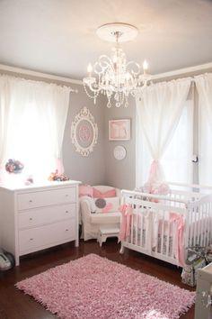 https://www.etsy.com/listing/178154878/custom-modern-baby-crib-bedding-design Project Nursery - Feminine Gray and Pink Nursery - Project Nursery