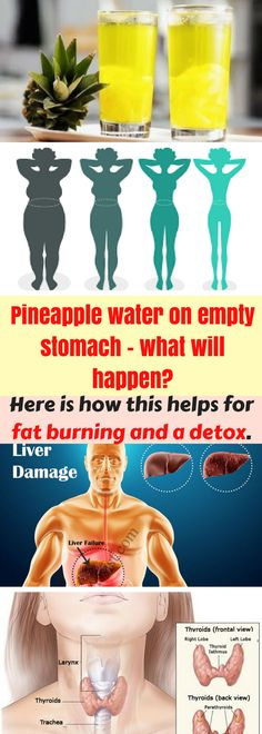 It is amazingly healthy to drink pineapple water every morning before breakfast. Here is how this helps for fat burning and a detox.