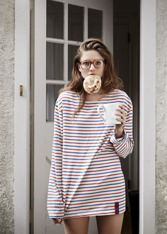 Inspired by all of the past icons, like Picasso, Audrey Hepburn and Brigitte Bardot, that equally loved the classic French marinière, Nikki Kule continues to perfect the ultimate striped tee with her range of fits and colors. We're especially loving the Modern fit for it's boxy style and it's