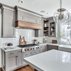 Surprising Useful Ideas: Small Kitchen Remodel Peninsula large kitchen remodel subway tiles.Old Kitchen Remodel Small kitchen remodel rustic stools. Kitchen Cabinets Trim, Kitchen Cabinet Design, Kitchen Redo, Maple Kitchen, Kitchen Ideas, Gray Cabinets, Kitchen Corner, Kitchen White, Kitchen Layout