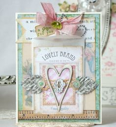 A gift for you  shabby chic Handmade Card by iralamijashop on Etsy, $7.50