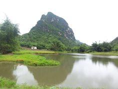 Kanchanaburi, Thailand. Swimmin' hole.