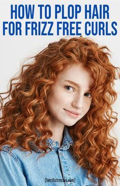 Find out why curly hair plopping gives you better, more defined without heat. Frizzy Wavy Hair, Wild Curly Hair, Natural Wavy Hair, Curly Hair Tips, Curly Hair Care, Long Curly Hair, Curly Girl, Curly Hair Plopping, Naturally Curly Hair