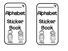Alphabet Sticker Books {to assess uppercase and lowercase letter recognition}