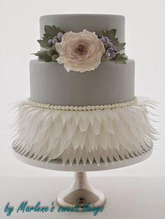 Vintage Cake with Wafer paper - Vintage-Torte mit Waferpaper