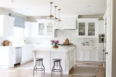 Tuscan Kitchen Makeover ::  White + Marble . Before and After