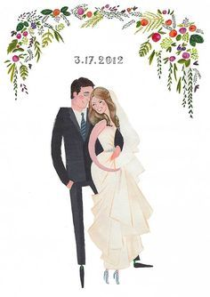 Portrait Illustration Draw Me In Ink – Custom Drawn Wedding Portraits - Wedding stationery with a custom drawn difference! Wedding Invitation Inspiration, Wedding Invitation Cards, Wedding Cards, Diy Wedding, Wedding Illustration, Couple Illustration, Portrait Illustration, Wedding Drawing, Watercolor Wedding