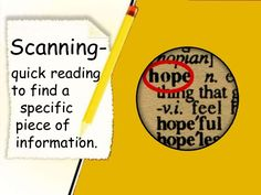 Skimming- quickreading toget the general idea. Research Skills, Study Skills, Research Paper, Comprehension Strategies, Reading Strategies, Skimming And Scanning, Lucy Calkins, Learning English, Grade 3