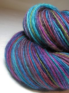 Handspun Yarn Gently Thick and Thin Single DK by SheepingBeauty, $36.00