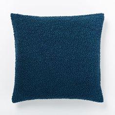 Cozy Boucle Pillow Cover - Blue Lagoon   west elm