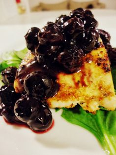 Foodie & Fabulous: Pan-Fried Salmon with a Balsamic Blueberry Reduction