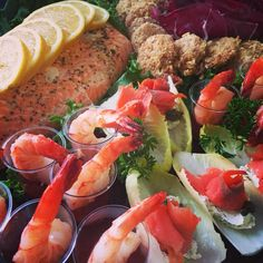 Seafood platter with