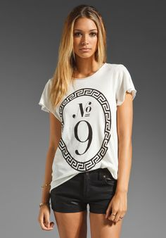 wild fox couture +  nove handmade tee in ceramic white at revolve clothing