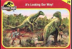 Jurassic Park Trading Cards Jurassic Park Trilogy, Jurassic Park 1993, Jurassic Park World, World 1, Prehistoric Animals, Animal 2, Gremlins, Science Fiction, Dinosaur Stuffed Animal