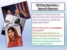 We focus on the opening sentences to speeches and think about the most effective ways of beginning speeches depending on the purpose and audience of the sp. Aqa English Language, Student Guide, Why Do People, Teaching Resources, Sentences, Classroom Ideas, Literacy, Politics, Writing