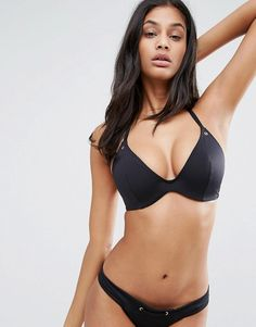 ASOS FULLER BUST Mix and Match Hidden Underwire Bikini Top with Eyelets