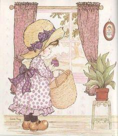 28 Ideas for basket illustration sarah kay Sarah Key, Illustrations Vintage, Illustrations And Posters, Holly Hobbie, Decoupage, Mary May, Weaving Art, Cute Images, Cute Illustration