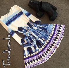 Desenli Kiloş Elbise
