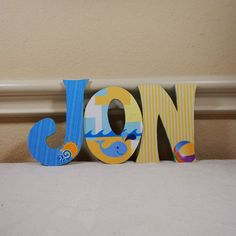 Baby Boy Nursery Decor Custom Nursery Letters by LybelleCreations
