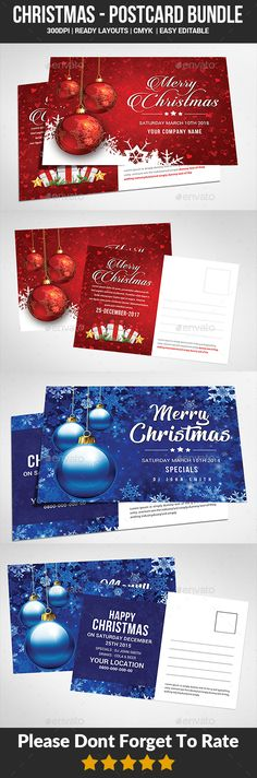 Christmas Postcard Bundle - Cards & Invites Print Templates Features : - Editable in adobe photoshop - Professional design - Uses free fonts - All objects, colors, & text are editable - Easy to Edit - Print Ready [CMYK] Nye Party, Party Flyer, Indesign Templates, Print Templates, Art And Illustration, Christmas Design, Vintage Christmas, New Year Postcard, Apples To Apples Game