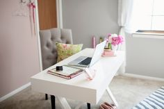 @Rhiannon Nicole 's stunning girl cave. Colors and special touches make all the difference!