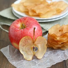 Caramelized Apple Chips from Southern Living, September 2012  1 small apple (I used a Gala) 1 cup sugar 1 cup water